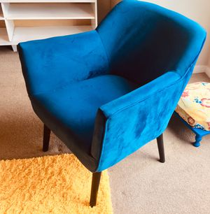 Blue Chair Suede for Sale in Davenport, IA
