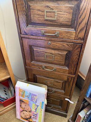 Oak 4 Drawer Filing Cabinet for Sale in Downey, CA