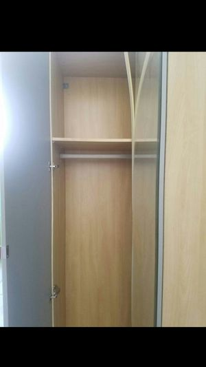 EXCELLENT CONDITION Ikea L-Shaped Tall Mirror Mirrored Closet Wardrobe Stand Unit + Clothes Rod Storage + Shelves INCLUDED for Sale in Monterey Park, CA