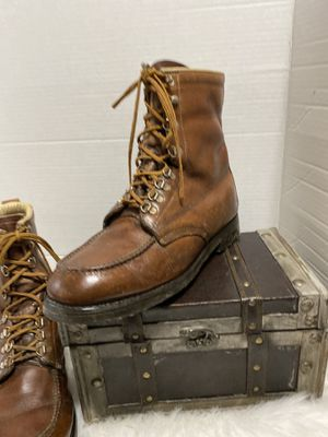 Vintage Wood N Stream Union Made Leather Mens Hiking Hiker Work Stomper Boots 9C for Sale in Dearborn, MI