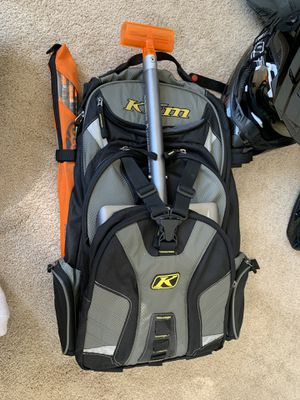 Klim snowmobile backpack, back country probe and shovel for Sale in Vancouver, WA