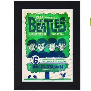 Small Beatles live at Dodgers Stadium print mini concert poster flyer Classic Rock music for Sale in Covina, CA