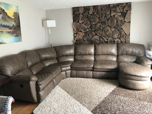 Quality light brown leather pet free and smoke free for Sale in Vancouver, WA