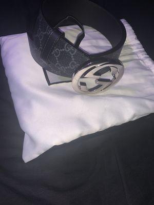 "Black mens Gucci belt "" 36 waist size "" for Sale in San Antonio, TX"
