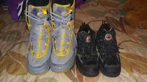 Both pair of mans work boots for Sale in Bakersfield, CA