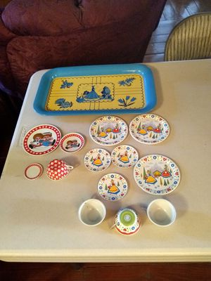 Vintage toy tin litho dishes for Sale in Sun City, AZ