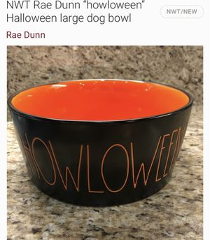 Rae Dunn large Howloween dog bowl for Sale in Montebello, CA