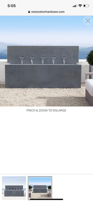 Restoration hardware zinc 5 spout fountain for Sale in Tampa, FL