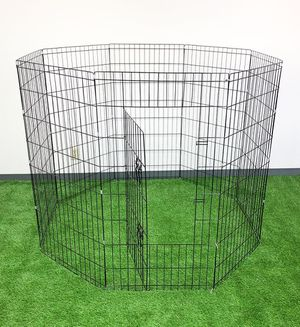 "New $45 Foldable 48"" Tall x 24"" Wide x 8-Panel Pet Playpen Dog Crate Metal Fence Exercise Cage for Sale in Whittier, CA"