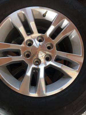 "Chevy Silverado 18"" Wheels and tires for Sale in Dinuba, CA"