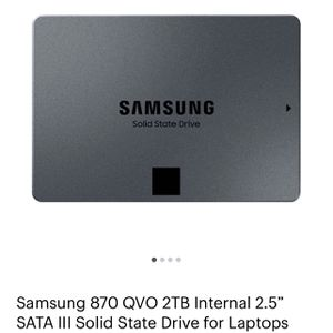 SAMSUNG 870 QVO 2TB INTERNAL SSD for Sale in Columbia, MD
