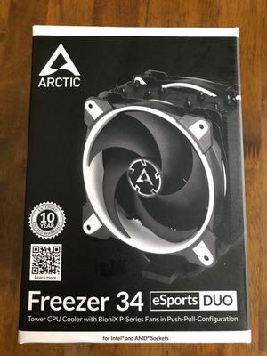 Arctic Freezer 34 eSports DUO - Intel & AMD CPU Cooler for Sale in Utica, OH