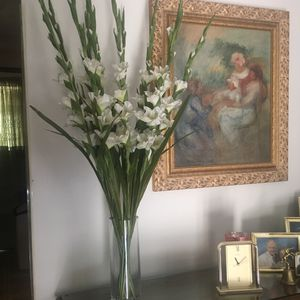 Pottery Barn Vase and Silk Flowers for Sale in Brentwood, PA