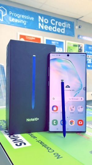 Samsung Galaxy Note 10+ : Note 10 Plus Brand New In The Box / Like New / Used Factory Unlocked 256Gb Starting @ for Sale in Arlington, TX