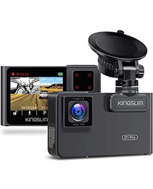 2.5 k. Kingslim D1 Pro Dual Dash Cam with Wi-Fi GPS, Front and Cabin Dash Camera for Cars, Dual Sony Sensor with 340° FOV, Super Night Vi for Sale in Chicago, IL