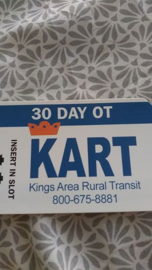 30 Day OT KART bus pass. Never used. for Sale in Hanford, CA