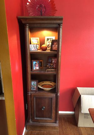 Wooden bookshelves with glass interior bottoms for Sale in Land O Lakes, FL