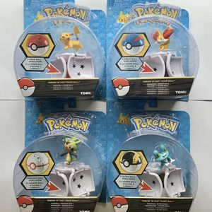 (4) POKEMON Throw N' Pop Poke Ball. Pikachu, Froakie, Chespin & Fennekin - TOMY for Sale in Windermere, FL