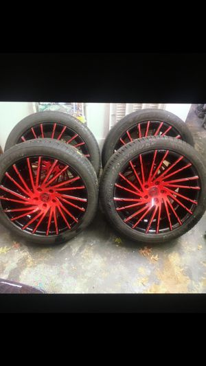Lexani rims red and black for Sale in Tenafly, NJ