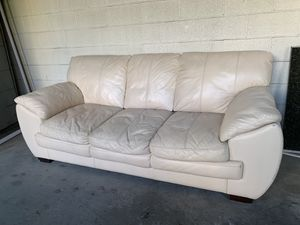 Off white leather sofa for Sale in West Hollywood, CA