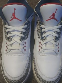 Jordan retro 3 true blue pre-owned good condition size 12 for Sale in Sharon Hill,  PA