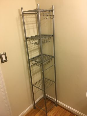 Wire organizer shelf with hooks and drawers for Sale in Germantown, MD