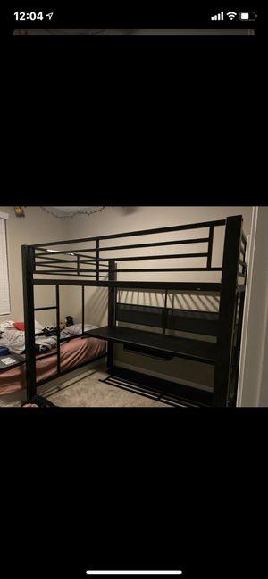 Loft bunk bed with desk for Sale in Sun City, AZ
