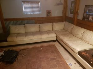 white leather sectional couch for Sale in Colorado Springs, CO