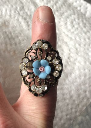 Blue Victorian Rose Ring for Sale in Parkville, MD