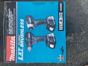 Brand New Makita Brushless 2-Piece Combo Kit Two 2.0Ah batteries, Charger and bag included for Sale in Revere, MA