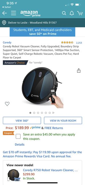 Coredy Robot Vacuums R550 (500) for Sale in Woodland Hills, CA