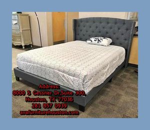 Grey queen bed frame for Sale in Houston, TX