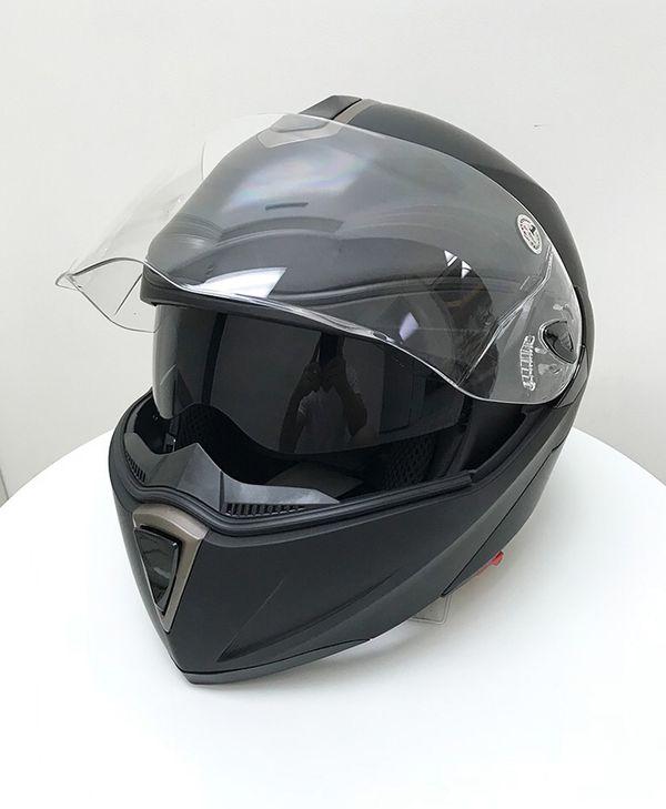 Brand New $45 Full Face Motorcycle Bike Helmet Flip up Dual Visor (M, L, XL) DOT Approved