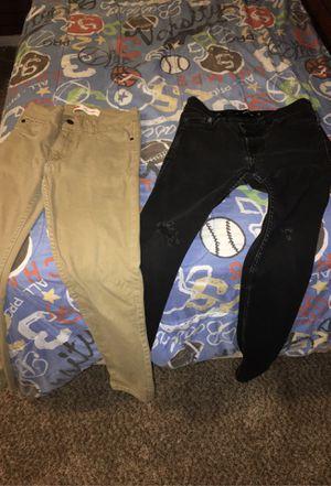 Boys hollister pants skinny length:30 and width:26 LEVI Pants L:27 W:27 for Sale in Hemet, CA