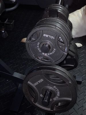 Fitness Gear Olympic Weights 300 Lbs. for Sale in Coral Springs, FL