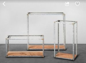 3 galvanized steel wall shelves for Sale in Anaheim, CA