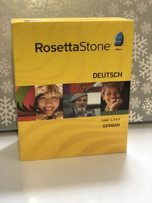 Rosetta Stone German 1,2, & 3 for Sale in Carlsbad, CA