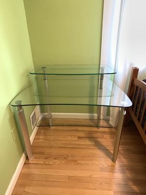 Glass Desk for Sale in Silver Spring, MD