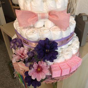 Diaper Cake For Girl for Sale in Corona, CA