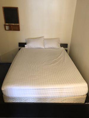 Queen Tempurpedic mattress, bed frame, down pillows for Sale in Arlington, VA