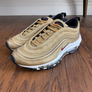 Nike air max 97 metallic gold sz 4y for Sale in Ontario, CA