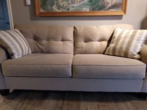 Light Beige & White Sofa with 2 Pillows for Sale in Woodinville, WA