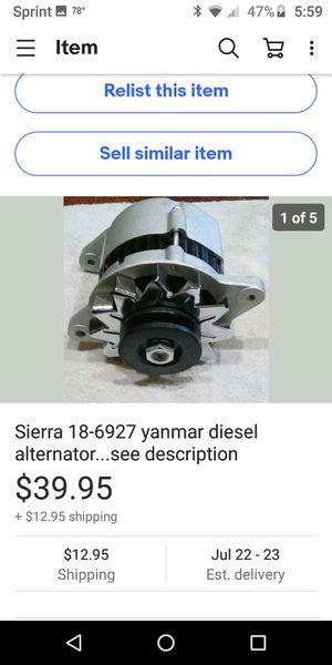Boat alternator.. details on pics for Sale in MERRIONETT PK, IL