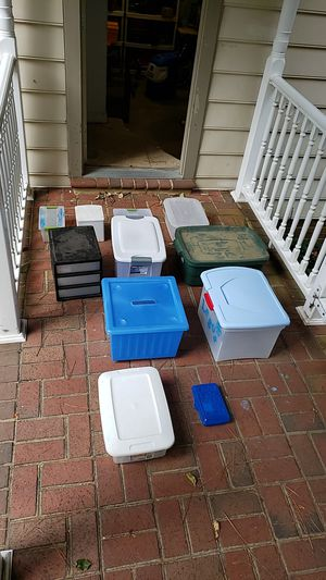 Plastic bins and totes for Sale in Chesapeake, VA