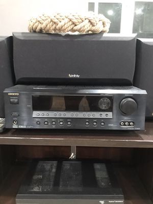 Onkyo reciever and infinity surround sound for Sale in Whittier, CA