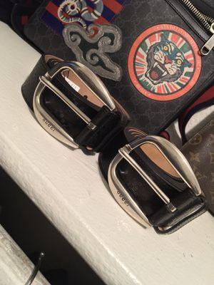 Gucci men's Diamanté Black Leather Belt's for Sale in Glendale, AZ