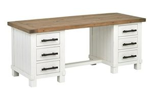 Gorgeous 6 drawer reclaimed wood desk wow...#farmhouse for Sale in Modesto, CA