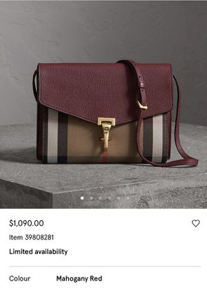 Mahogany Burberry Crossover Bag for Sale in Philadelphia, PA