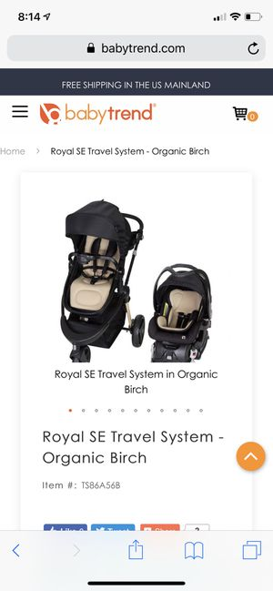 Royal se travel system organic birch for Sale in Hartford, CT