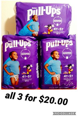 huggies pull up size 4t 5t for Sale in Los Angeles, CA